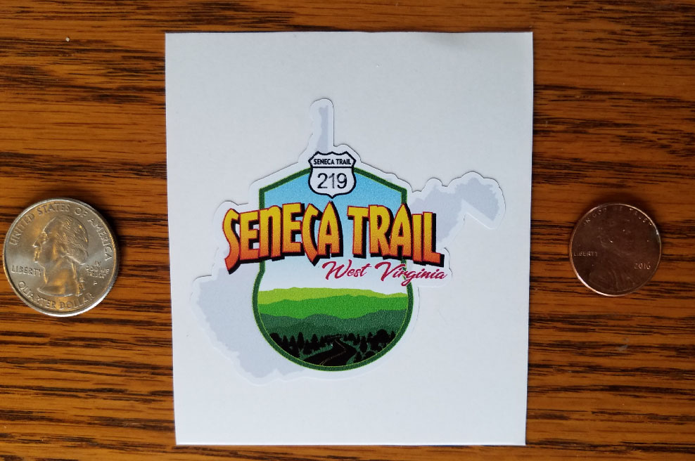 NEW! SENECA TRAIL GRAPHIC STICKER