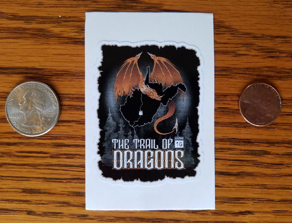 NEW! THE TRAIL OF DRAGONS GRAPHIC STICKER